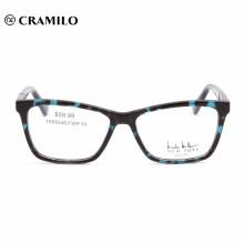 Últimos modelos hechos a mano fresco acetato gafas cuadradas ópticas