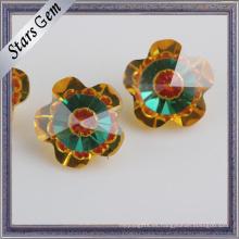 Color mezclado forma de flor zirconia cúbica para la joyería