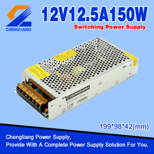 Alimentatore switching 12V 150W per striscia LED