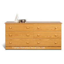 New Wooden Bedroom Storage 6 Drawer Dresser Cabinet