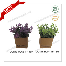 H14cm Wholesale Real Feel Silk Flowers Artificial Plant Flower