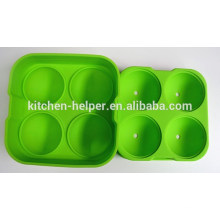 Novelty Colorful Food Grade Silicone Ice Ball Mold For Ice Cream