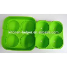 Novidade colorida alimentos grau silicone silicone bolha molde para sorvete