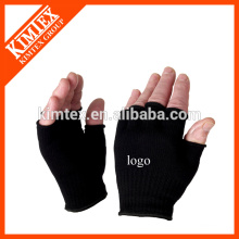 2015 Unisex wholesale acrylic custom knitted fingerless drink gloves