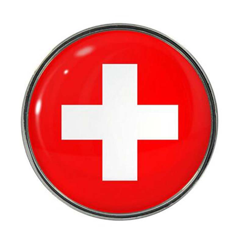 Switzerland Flag Design Pin Badge