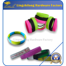 Wholesale Mixed Colors Blank Silicone Wristbands