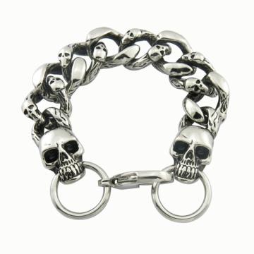 Fashion Jewelry Metal Evil Eye Antique Biker Bracelet