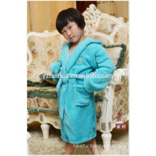 Customed Full Size children kids Soft Warm Fleece bathrobe with Hood