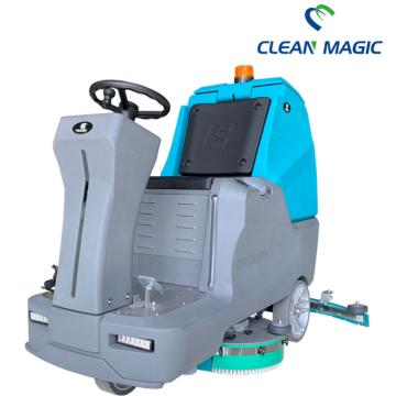 Машинка для мытья полов с сиденьем для уборки