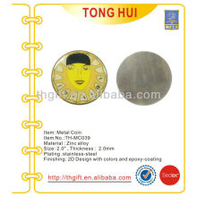 Soft enamel Stainless Steel Commemorative coin,souvenir coin with epoxy