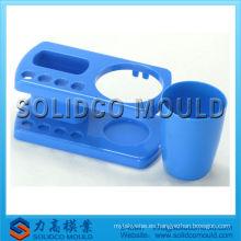 Fabricante plástico del molde de inyección de la taza del tenedor del cepillo de dientes