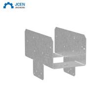 Custom steel square post base