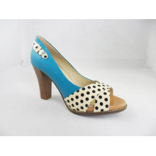 Fashion High Heel Chunky Ladies Dress Shoes (HCY03-196)