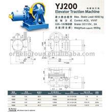 Machine de traction par ascenseur (Geared), élévateur