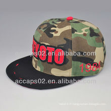 Applique plain 5 panel camp cap