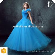 Alibaba Онлайн Золушка Королевский Синий Особого Случая Партии Свадебные Платья В Стиле Принцесса Реальный Образец Бальное Платье Вечернее Платье