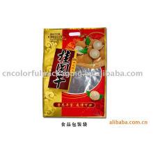 Verpackungsbeutel mit 3 Seiten versiegelten laminierten Schichten für Früchte / Folienbeutel für getrocknete Longan / 3-seitig versiegelte Plastikbeutel