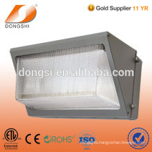 Exterior LED wall pack lighting housing for LED bulb