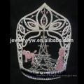 Diamante grande de encargo de la torre Eiffel de la torre Eiffel corona de la tiara, los tamaños de encargo aceptan