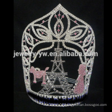 Large Diamond custom Eiffel Tower pageant tiara crown, custom sizes accept