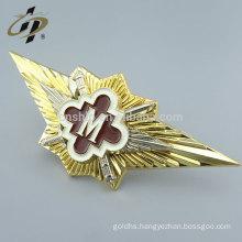 Wholesale custom metal badge emblem with pin backing