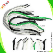 Twisted pp handbag handle rope with transparent plastic tip factory sirectly shipping