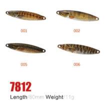 Atacado 80mm 11g iscas de colher de pesca