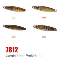 Оптовая 80мм 11g рыболовные ложка приманки