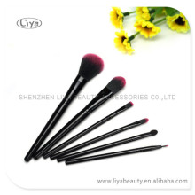6pcs plastic handle makeup brush set