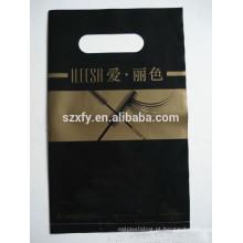 Eco-friendly impressão saco de embalagem de plástico para a loja de cílios