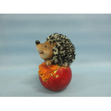 Apple Hedgehog Shape Ceramic Crafts (LOE2535-C12)