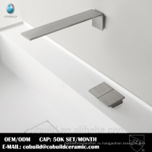 настенное крепление раковины ванной комнаты кран матовый никель