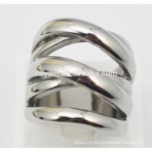 Punk estilo de acero de metal único anillos de plata para las mujeres