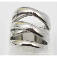 Панк-стиль металлической стали уникальные серебряные кольца для женщин
