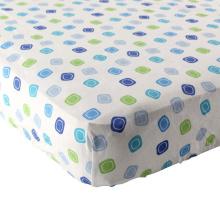 Лист-100 оснащен шпаргалки% Сплетенный хлопок фланель(дышащий и мягкий), подходит Стандартный кроватки матрас