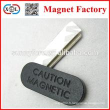 carré de badge magnétique forte mise en garde