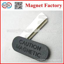 square strong caution magnetic badge