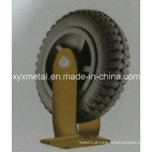 Roda de cassete de borracha de espuma com rodas de rodízio resistente, pneu, rodízio de engrenagem