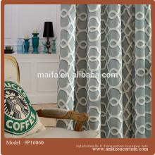 Luxe facile à nettoyer imprimé à rideaux occultant en tissu à vendre