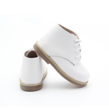 Kids Winter White Shoelace babylaarzen