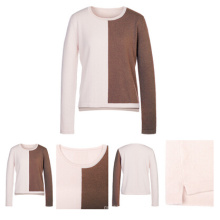 1/2 Colors Women Knitted Pure Cashmere Knitwear