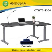 High-end electric lift desk L shape electric height adjustable desk modern furniture