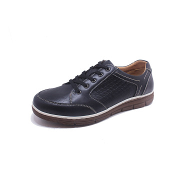 OEM Casual Soft Lace up sapatos de couro