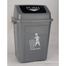 Contenedor de basura de plástico de 30L con cubierta giratoria