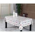 Hot Sale Square Shape PVC Printed Pattern Tablecloth with Backside