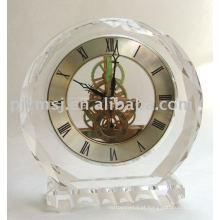 Relógio de mesa de cristal presentes do favor do casamento relógio de cristal K9 horologe de cristal