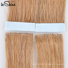2015 nouvelle trame de peau liée à la main, bande de peau de pu extension de cheveux humains / attaché à la main 100% indien remy