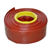 Dark Red Large Diameter Water Irrigation PVC Flat Hose/Pipe