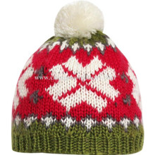 Chunky Cable Knit Bobble Hut Mütze warme Mütze