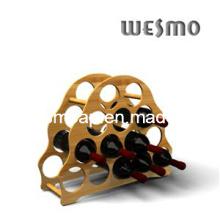 High-End Wine Bottle Bamboo Shelf Holder